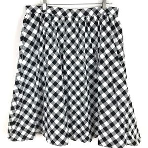 ModCloth Charming rockabilly Gingham Skirt check
